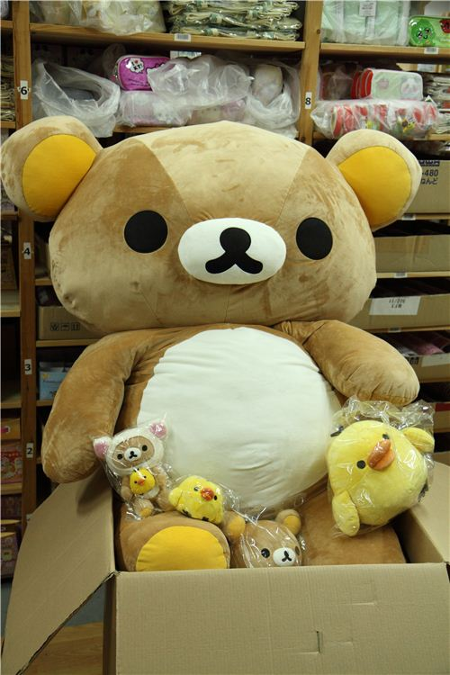 Look how huge he is compared to his little plush brothers and sisters