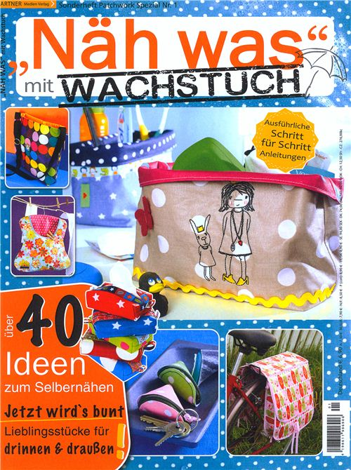 We are featured in the German magazine Näh was mit Wachstuch