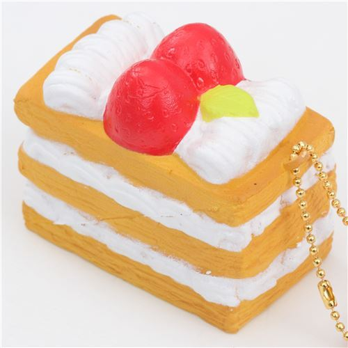 Premium Cafe de N light brown white mille-feuille pastry squishy charm kawaii