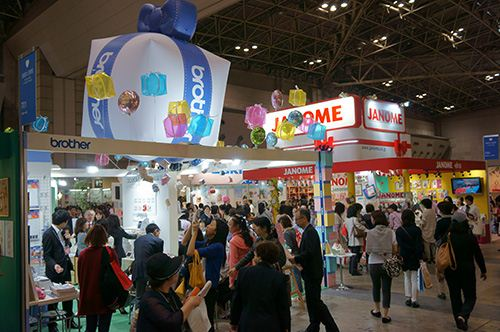 Huge exhibition halls with thousands of visitors who can try many of the products.