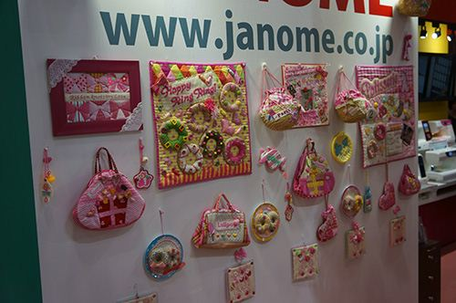We found a lot of very cute products too. Like these fabrics for handbags.