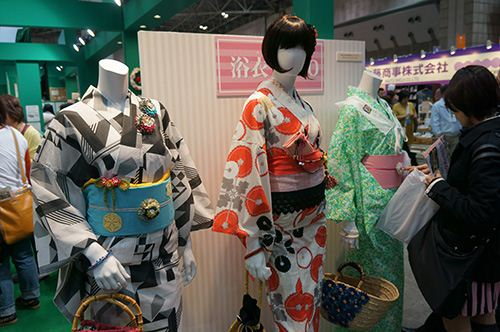 Some beautiful Kimonos made from Japanese fabrics.