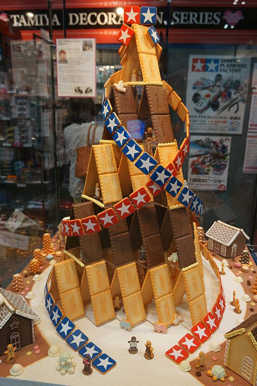 Cute construction. A spectacular house of cookies.