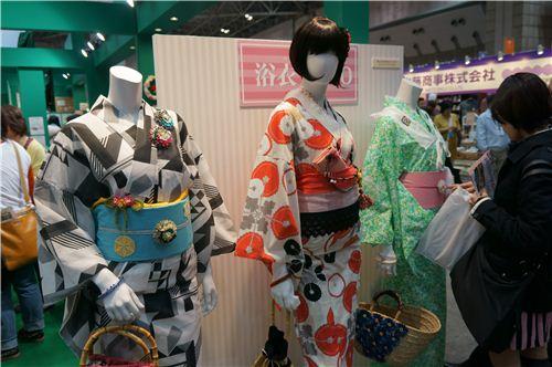 Some beautiful Kimonos made from Japanese fabrics.