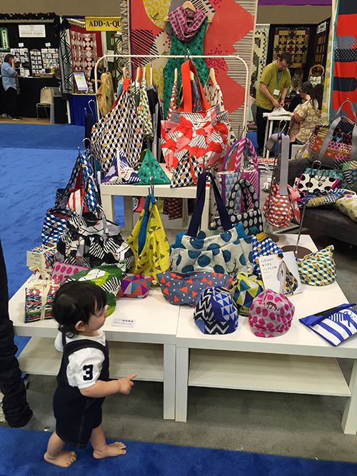 Easily carried away. Echino fabrics are perfect for sewing bags and pouches.