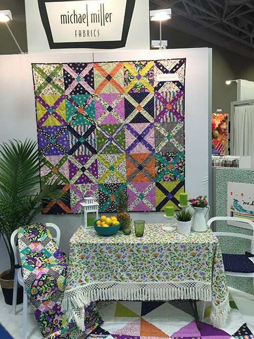 A wonderful quilt design and tablecloth by Michale Miller.