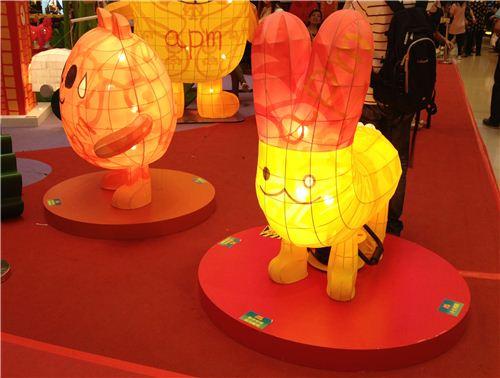 Panda-o-Panda's friend the bunny became a lantern too