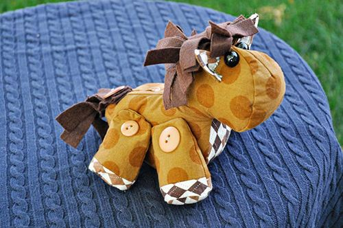Create an animal with patchwork design! Also courtesy of Craftsy.