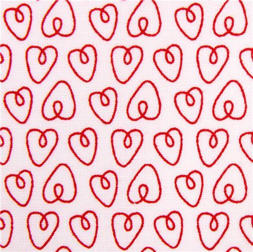 white Petite Hearts heart love fabric Michael Miller Petite Paris