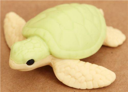 green sea turtle eraser by Iwako