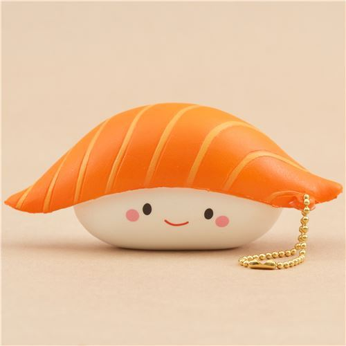 scented orange and white sushi food squishy