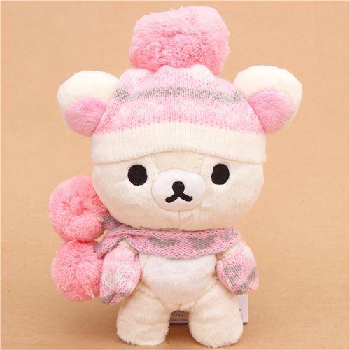Rilakkuma winter knit white bear plush toy San-X Japan