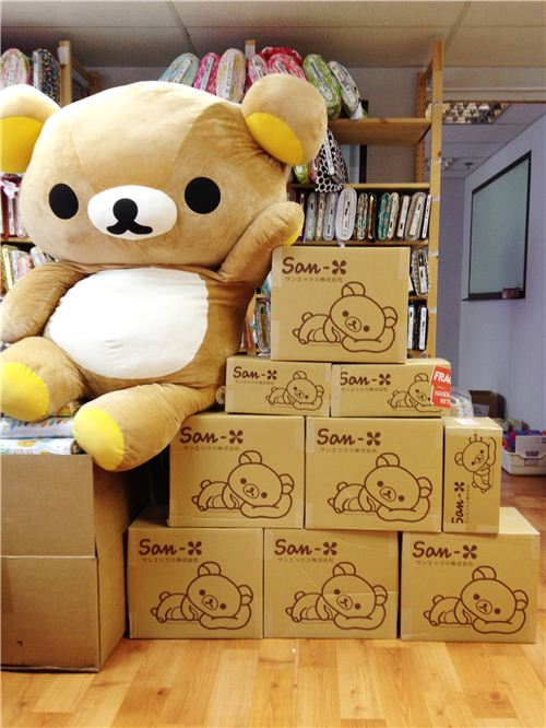 Our big office Rilakkuma built an office box Christmas tree