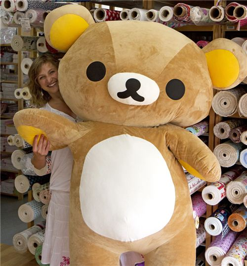 Rilakkuma and Gabi having the interview - obviously lots of fun