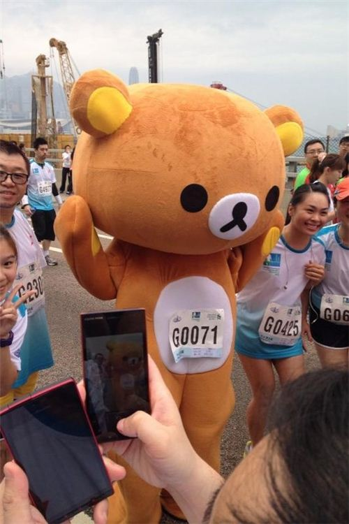 Rilakkuma poses for the cameras