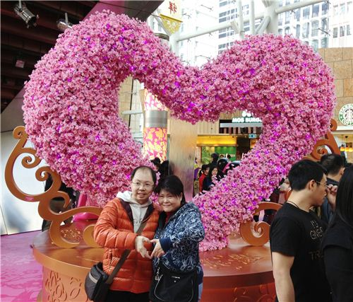 For this cute couple it is hearts all around