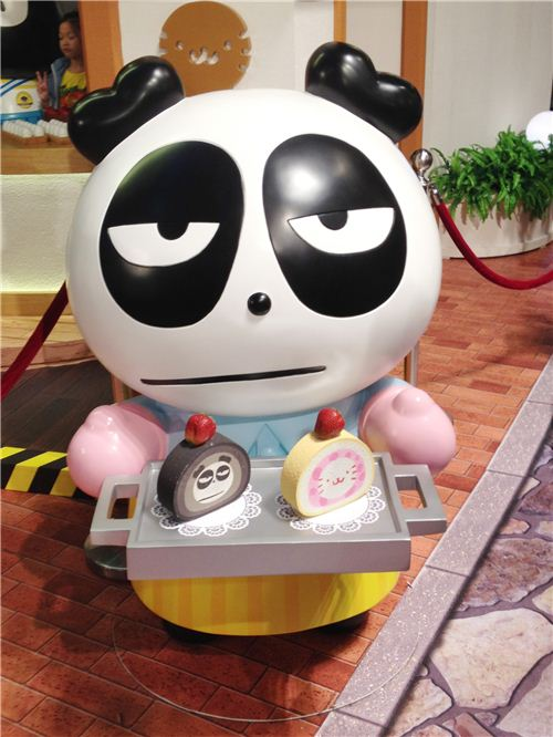 Pandaba is serving roll cake