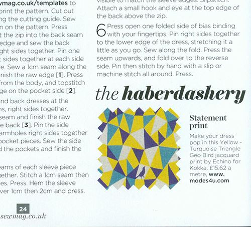 Our mention as a stockist in their June edition