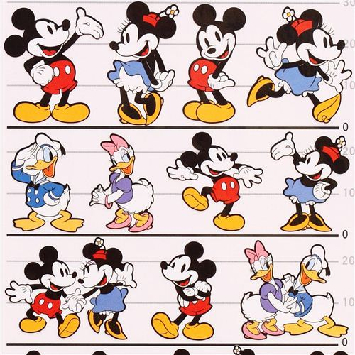 Disney Mickey Mouse Donald Duck stickers from Japan