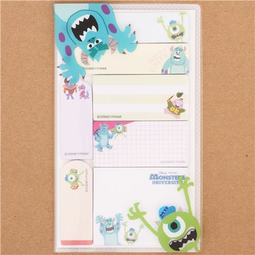Monsters University Mike bookmark stickers set 7pcs Japan