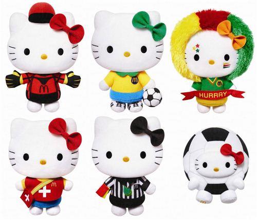 The kawaii Soccer K League Hello Kitty plushs at McDonald's Hong Kong