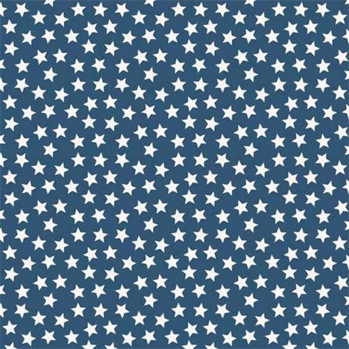 dark blue Riley Blake small white star fabric