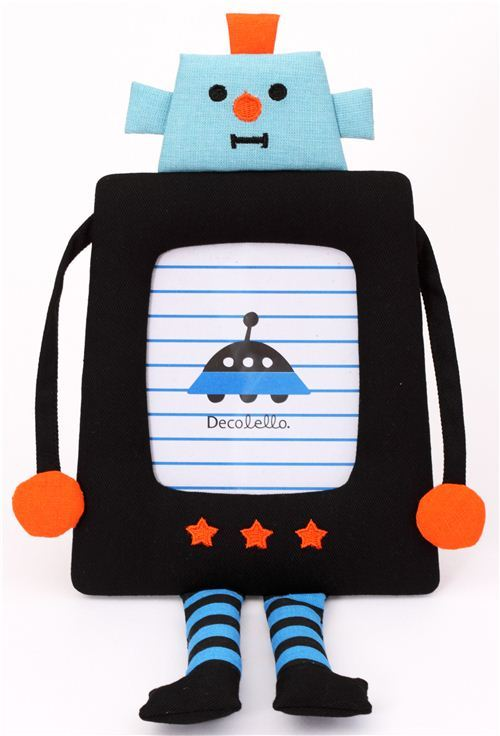 funny robot fabric photo frame picture frame Japan Decole