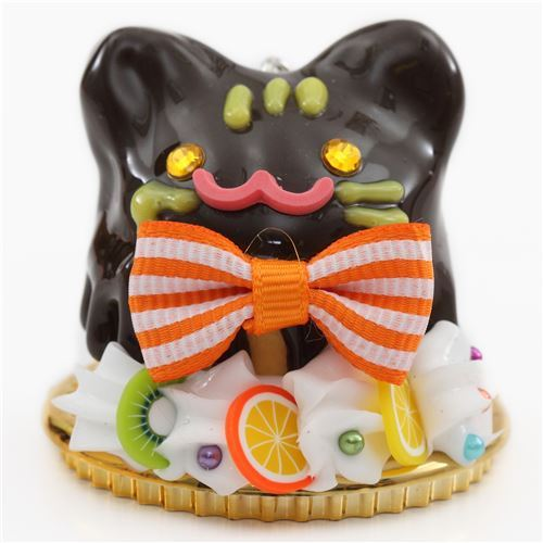chocolate sauce cat face fruit orange bow dessert figure from Japan