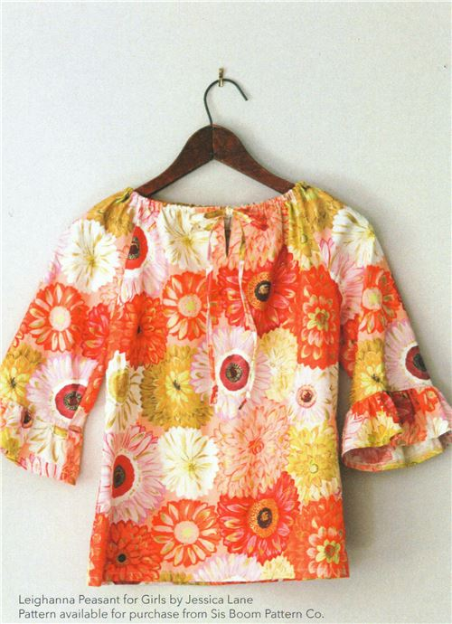 This is a stunning orange flower top. Image courtesy of Michael Miller fabrics.