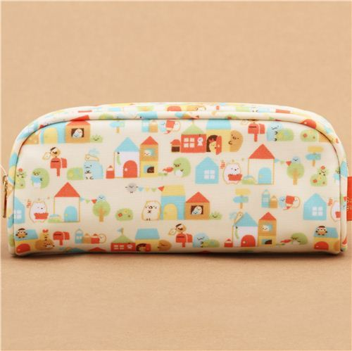 cream Sumikkogurashi shy animals city house pouch San-X
