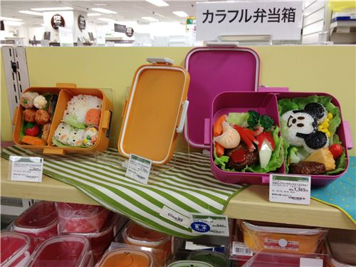 The bentos inside these boxes are fake and just to display the box, but they look super yummy