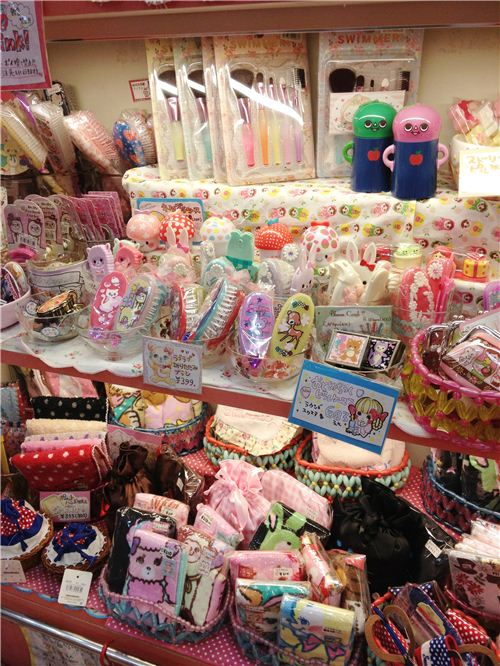 Kawaii beauty accessories like brushes and combs