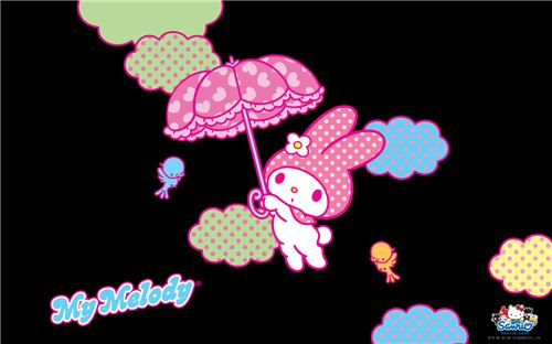 Cool black My Melody wallpaper