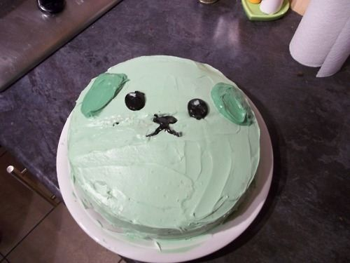 Super kawaii Mameshiba cake spotted on the blog Purapea