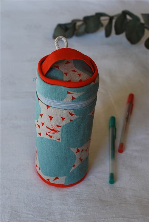 You can make one of these pencil cases!