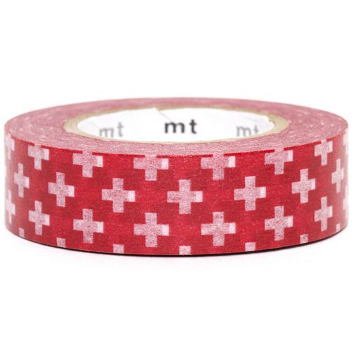 red mt Washi Masking Tape deco tape with crosses