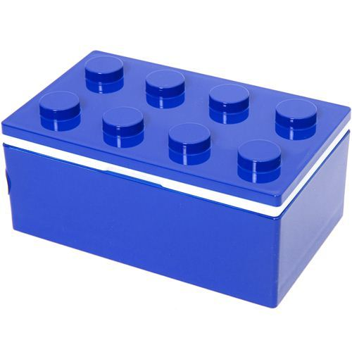 funny stackable blue building block Bento Box Japan
