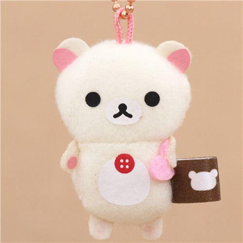 cute Rilakkuma Korilakkuma bear plush charm