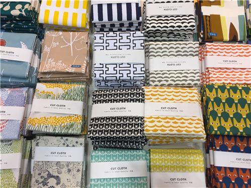 Fabrics on display