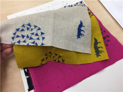 Echino fabric samples