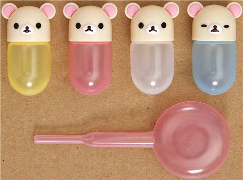 4 Rilakkuma mini sauce container for Bento Box