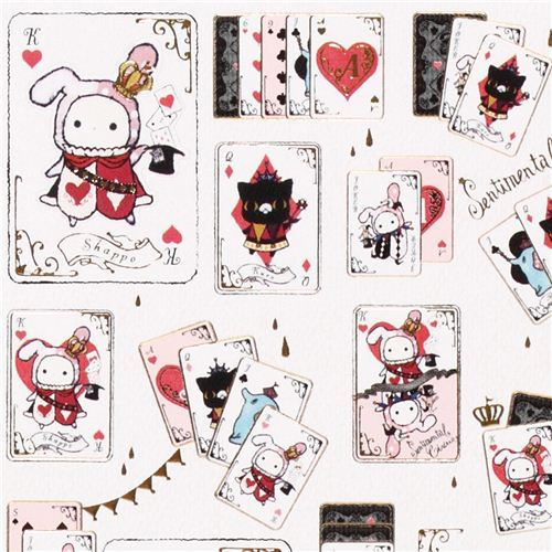 kawaii Sentimental Circus playing cards stickers by San-X