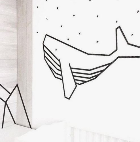 Give your wall a whale theme! Image from Marie Claire France