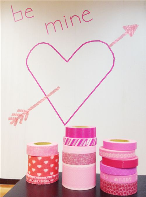 Some of our pink Washi Tapes with our Valentines Day heart