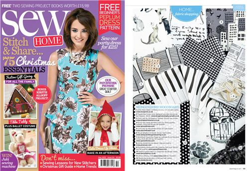 Sew Magazine December 2013 introduced our monaluna polka ott fabric