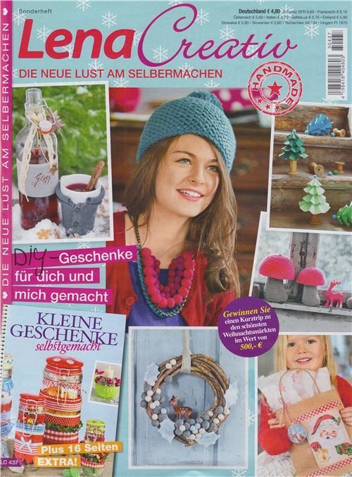 The cover of the Christmas issue of the German magazine Lena Creativ