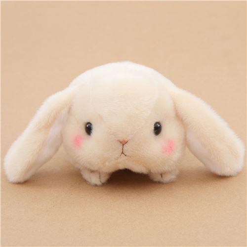 kawaii beige bunny rabbit Poteusa Loppy plush toy from Japan