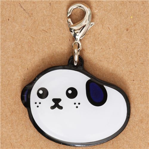 cute white Mameshiba bean dog charm by Dentsu