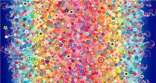 Robert Kaufman rainbow color fabric with circles Effervescence