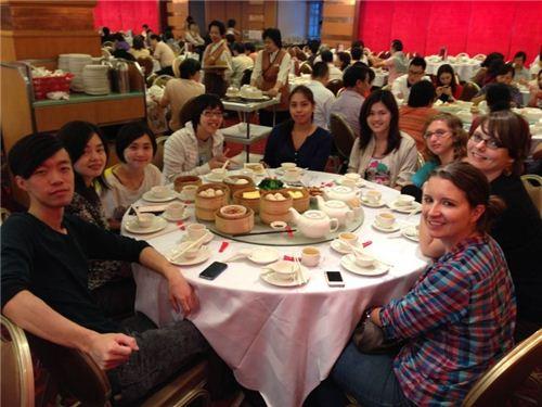 the modes4u team: Ho, Karen, Lok, Echo, Veronica, Maggie, Gabi, Bianca and Sandra; Alan is taking the picture